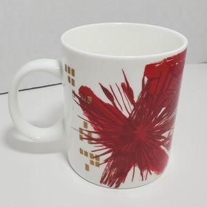 Starbucks Kitchen - Starbucks Mug 2014 Abstract Floral Splash 12oz